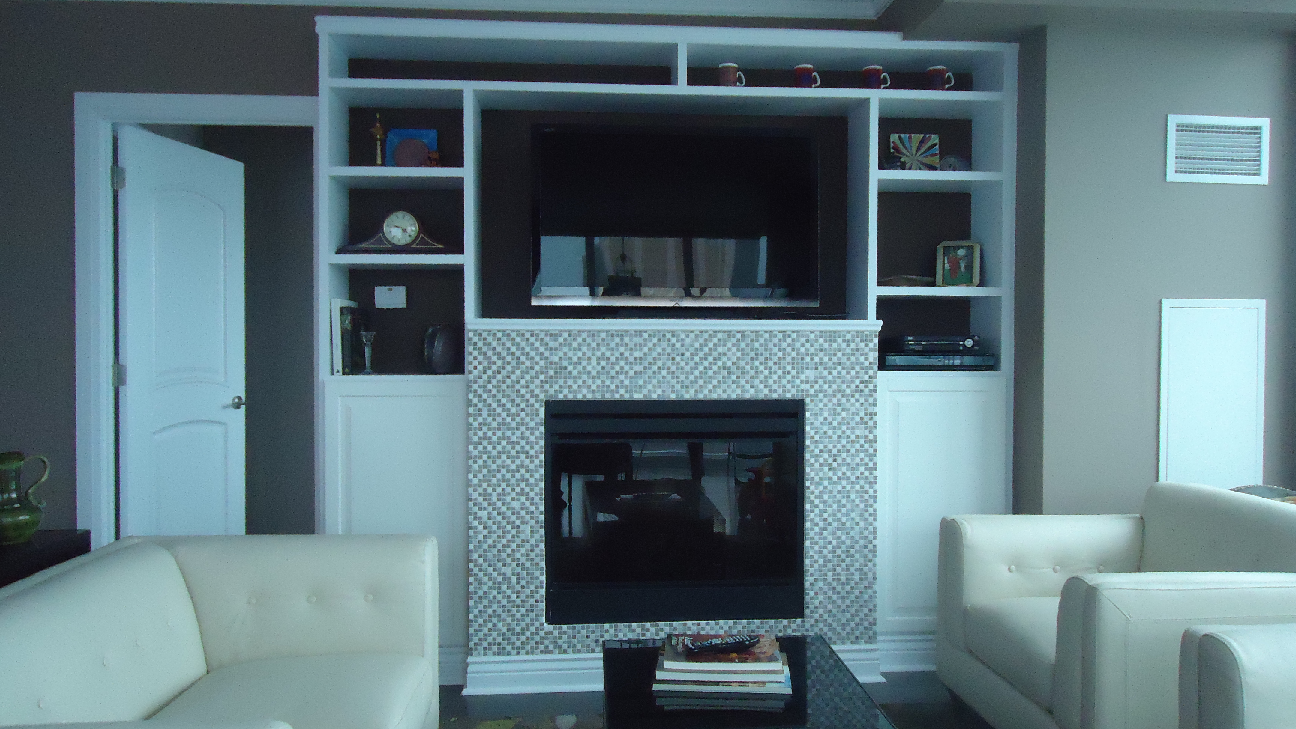 a boring drab fireplace