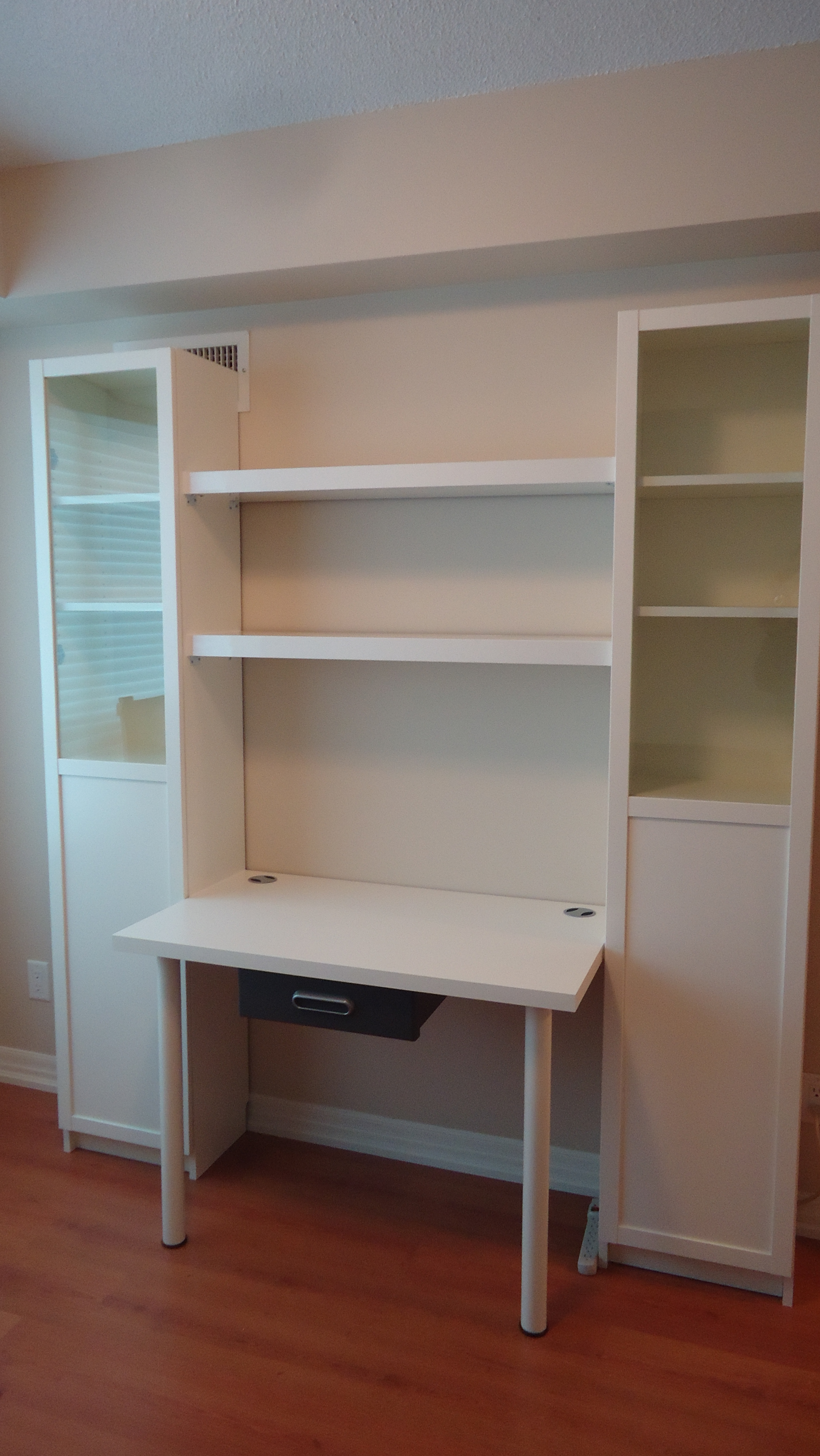 Creating A Custom Desk Unit Small Space Style