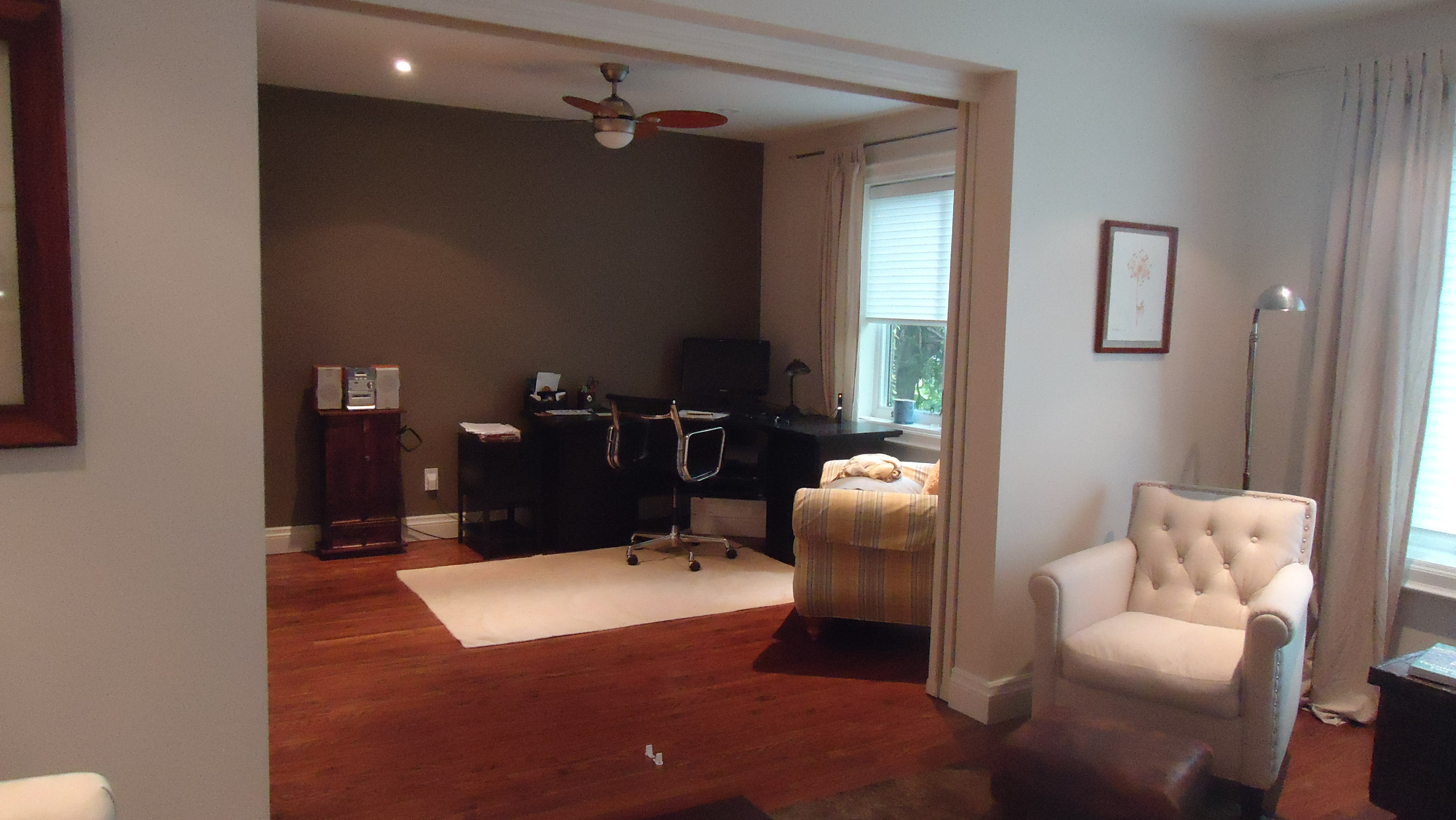 With The Doors Closed, It Gives The Living Room A Cozier Feel And Keeps The Home  Office Private.