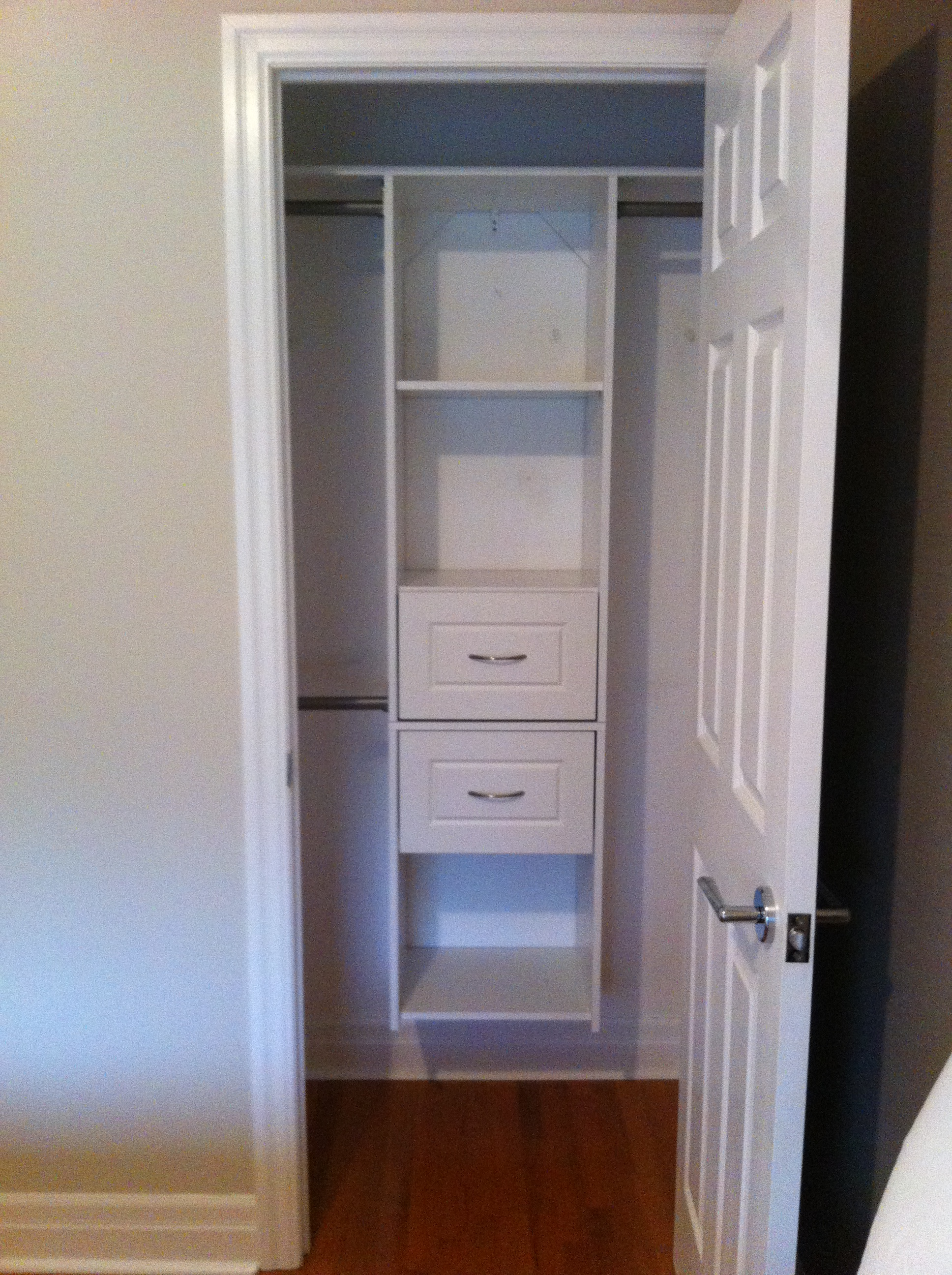Making over a very very small closet small space style - Closet for small room ...
