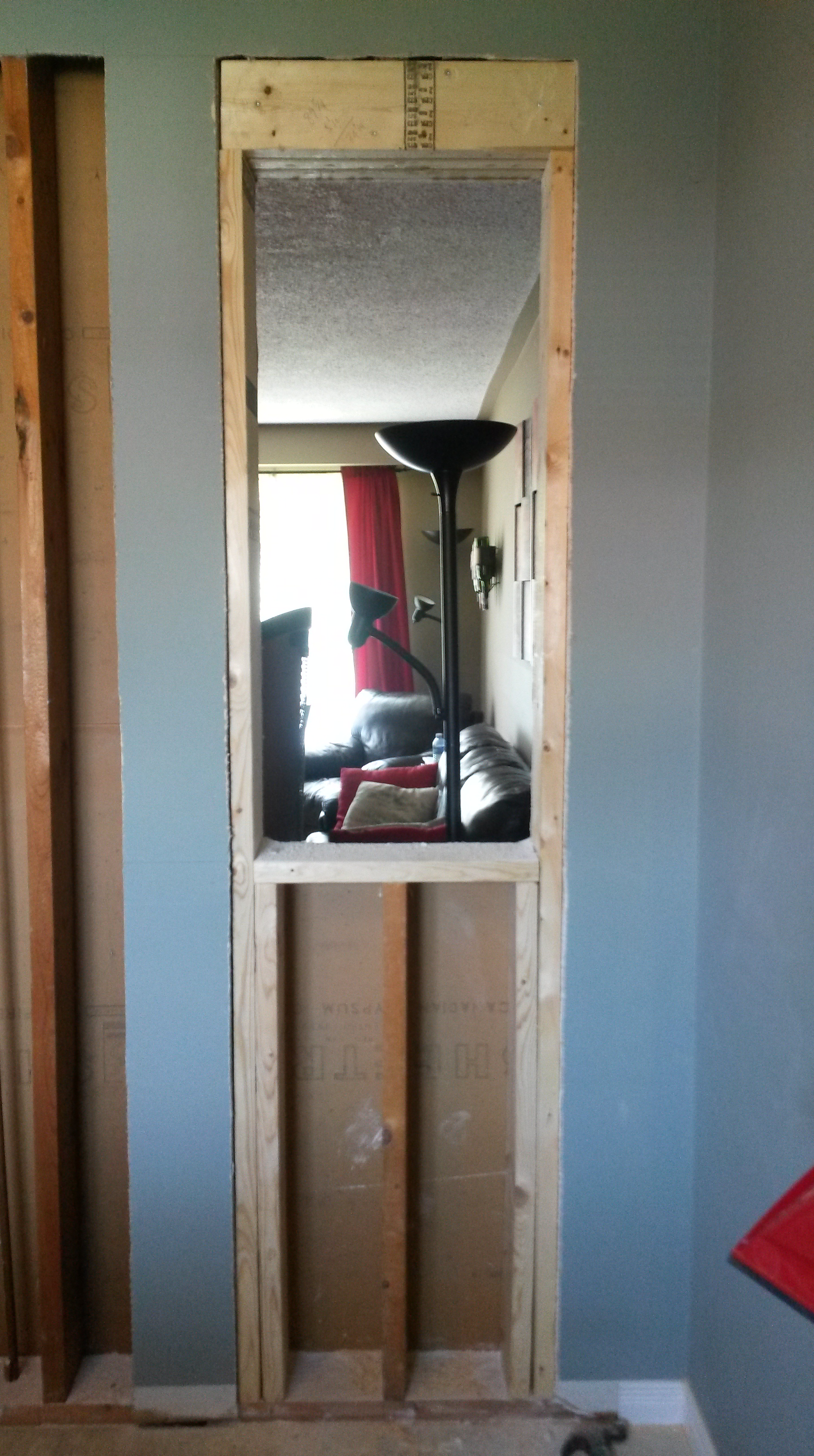 Cutting A Pass Thru In A Load Bearing Wall Small Space